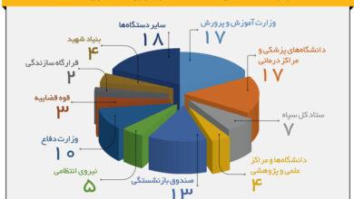 تصویر ۵۰ بودجه بگیر اصلی از دولت، کدام نهادهاست؟