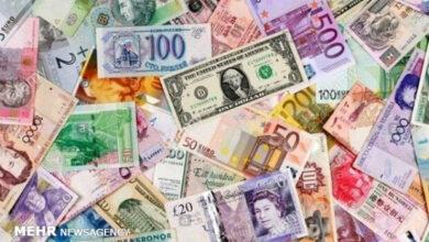 تصویر جزئیات قیمت رسمی انواع ارز/ نرخ ۴۶ ارز بدون تغییر باقی ماند